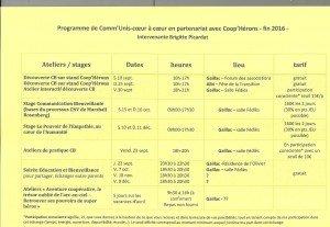 Programme fin 2016- 1 001