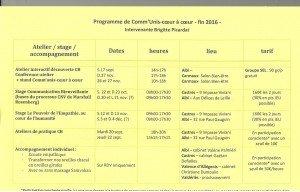 Programme fin 2016- 2 001